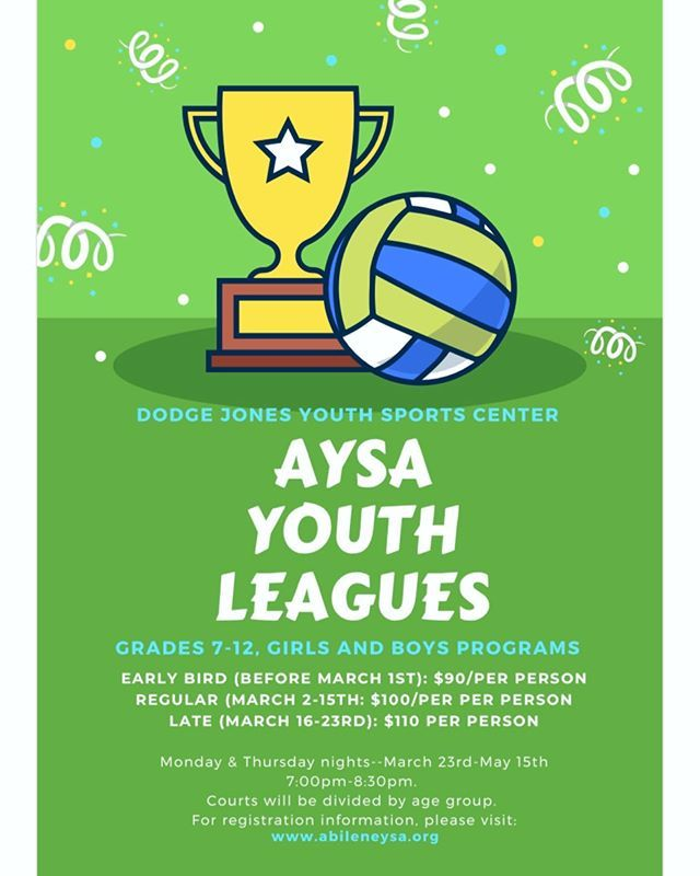 Signups Are Officially Open For Our Aysa Youth Volleyball Spring League If You Are Looking To Strengthen Your Volleybal In 2020 Youth Volleyball Youth Sports League