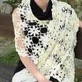 Beautiful Shawl For Spring And Summer        Pattern     Source: Russian Crochet Magazine Series