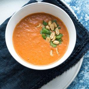 Spicy suppe med kokosmælk (vegansk) ...