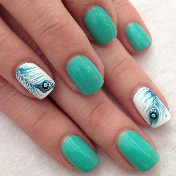 25+ Best Ideas About Feather Nail Art On Pinterest