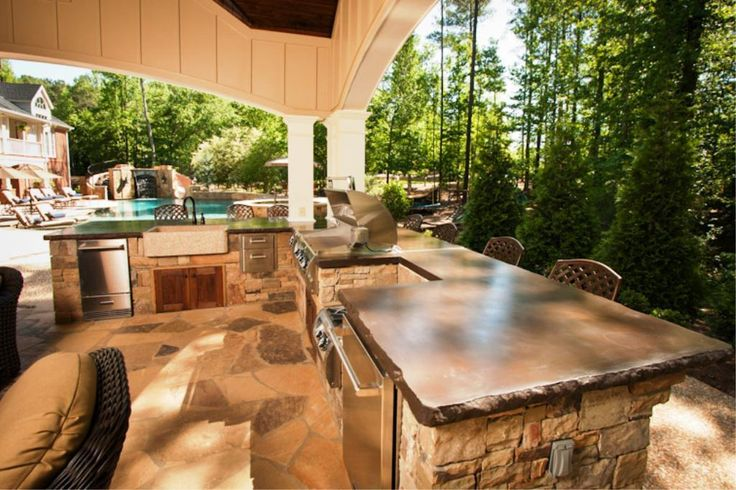 Best inexpensive kitchen outdoor counter tops ideas for Cheap outdoor kitchen designs