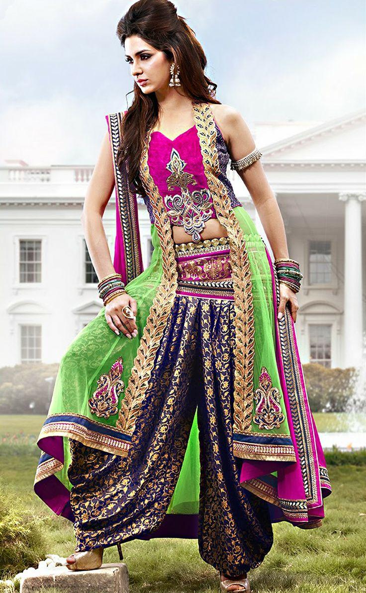 Shop Buy Beautiful Magenta & Mint Green Salwar Kameez
