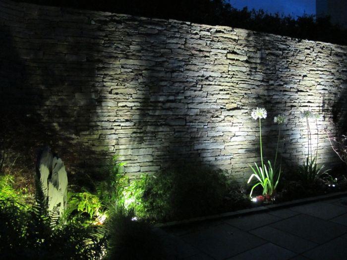 Lovely LED Beleuchtung Garten gehweg Mauer