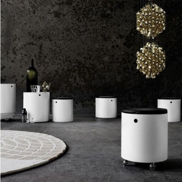 partyset by verpan #VernerPanton #Design #interior  #homedecor #lamp   #blackinterior #furniture