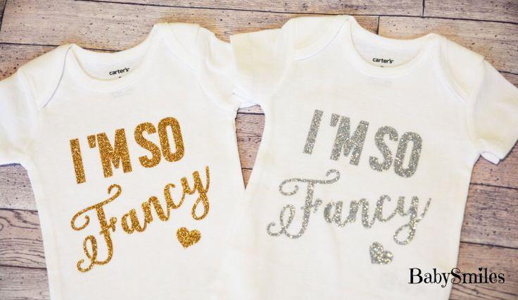 I'm So Fancy Shirt Baby Girl Clothes Baby Shower Gift Hipster Baby Clothes Baby Girl Shirt Baby Girl Bodysuit Gold Glitter Shirt 111 by BabySmilesBoutique on Etsy https://www.etsy.com/listing/226321953/im-so-fancy-shirt-baby-girl-clothes-baby