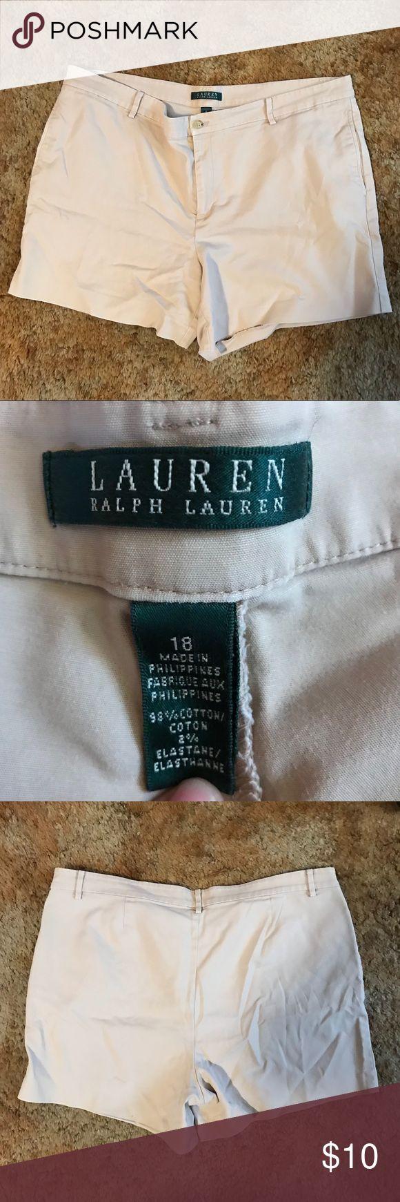 Ralph Lauren Tan Shorts Ralph Lauren brand Size: 18 Cotton/elastane blend Chino like style Zero flaws  Tags: #ralphlauren #tanshorts Ralph Lauren Shorts