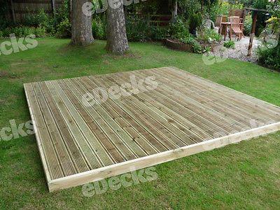 20m2 Softwood Decking Kit Timber Joist Fixings Garden