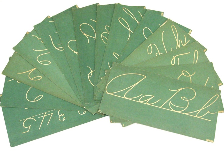 Vintage Classroom Cursive Cards - Retro School Decor - Choose One Card or More. $8.50 by @SplendidJunk on Etsy.