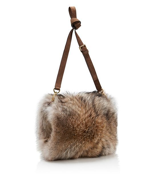 Tory Burch Coyote Fur Muff : Women's Handbags | Tory Burch - which it were a fake fur