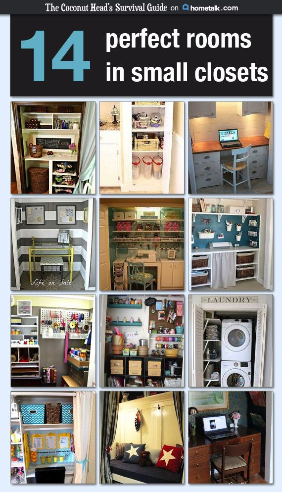 14 Perfect Rooms in Small Closets #hometalk