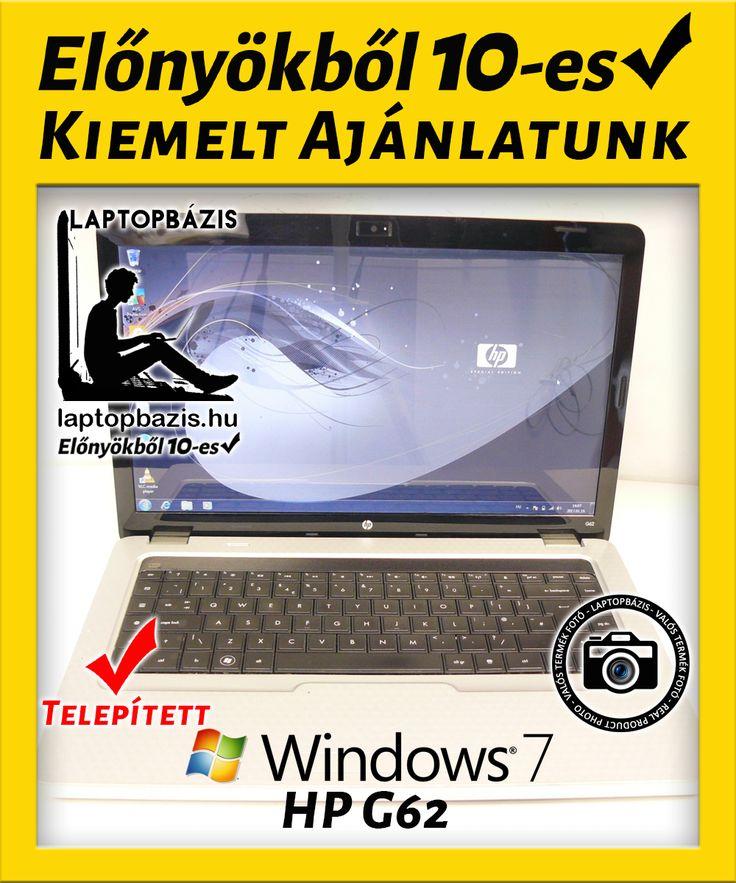 Kiemelt Ajánlatunk: HP G62 laptop http://laptopbazis.hu/termek/hp-g62-laptop-amd-athlon-ii-dual-core-p320-4-gb-ddr3-250-gb-hdd-webkamera-windows-7/213