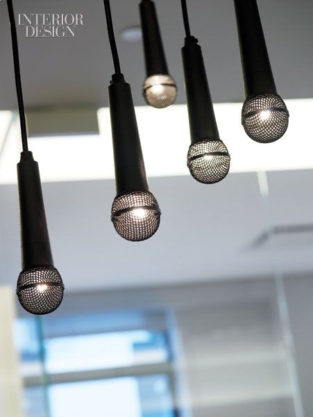 Microphone Chandelier (custom design by Re-Surface)