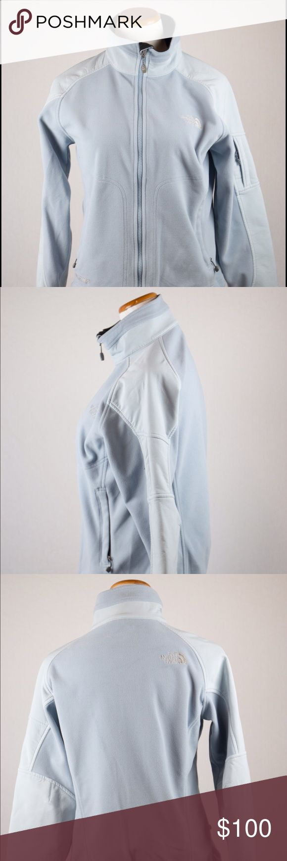 North Face Women's Zip Up Jacket This North Face jacket is a small light blue zip up. Perfect for cold weather! SKU in warehouse is #828 North Face Jackets & Coats