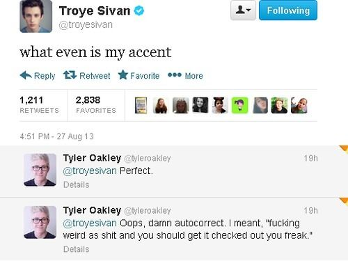 Tyler Okley & Troye Sivan <3 We all ship this so hard!!!!!
