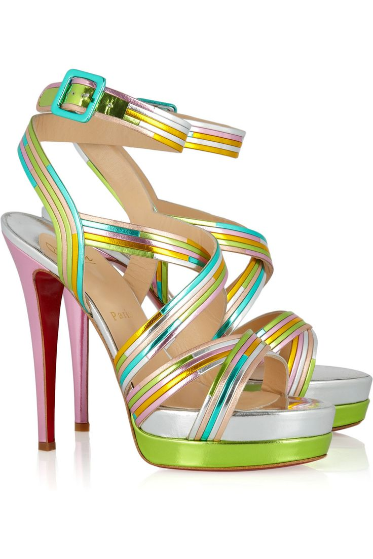 Meteorita Sandals by Christian Louboutin #Sandals #Christian_Louboutin