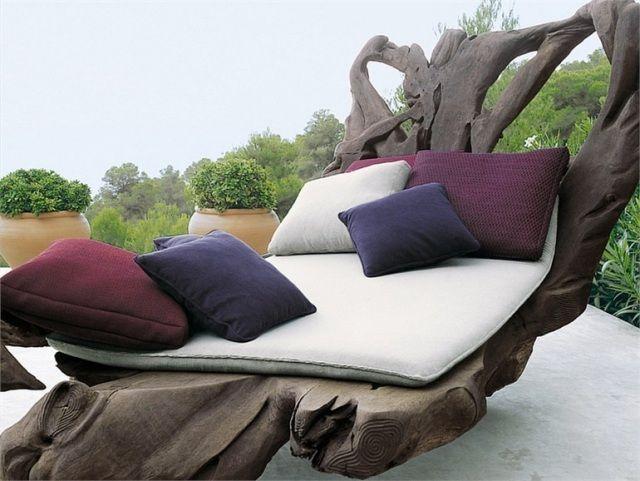 design italien par Paula Lenti: chaise-longue rustique