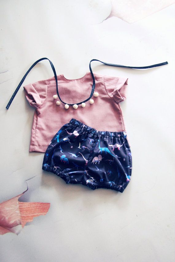Girls Bloomers Bubble Shorts Baby Bloomers Dinosaur Shorts Dinosaur Outfit Girl…