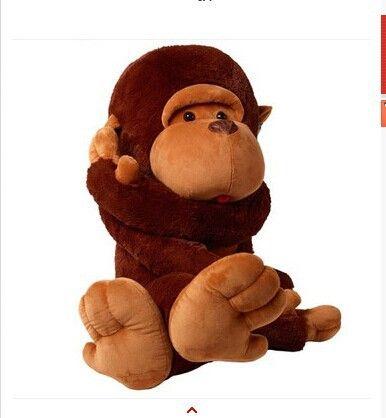 Чучело 110 см милый длинные руки обезьяна плюшевые игрушки мягкие куклы w1728
