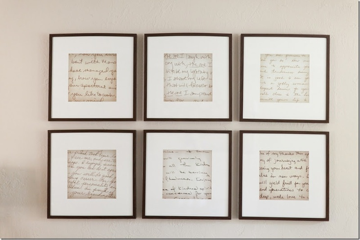 Family History Display Idea Enlarge Old Letters On A