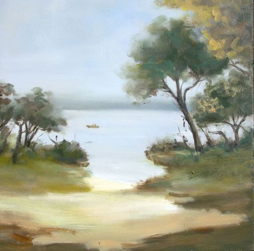 Stella Downer Fine Art - Dealer Consultant & Valuer - Featuring work by Viola Dominello - Fishing Spot, Berowra Waters