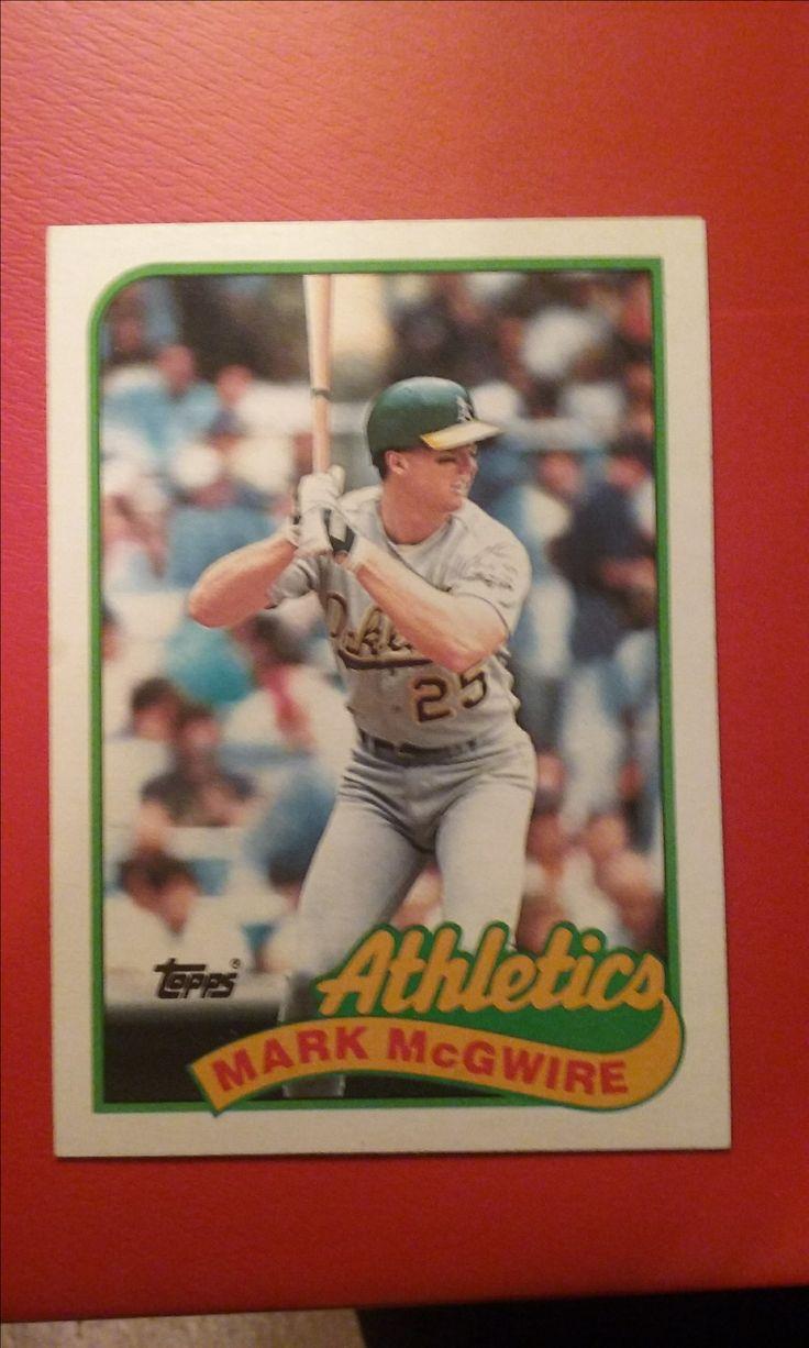 1989toppsbaseballcard70markmcgwire baseball cards