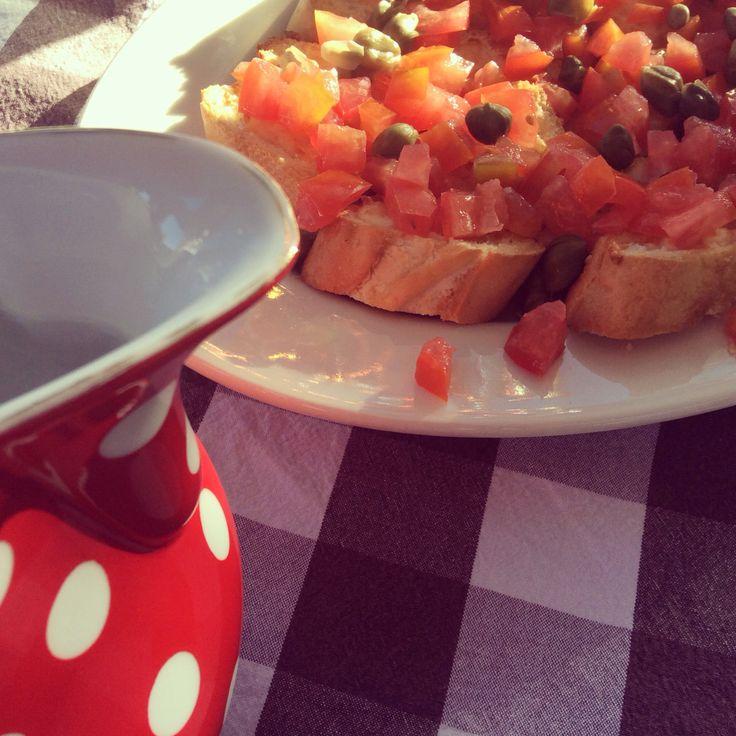 Italiaanse broodjes in Spanje! #bruchettes #voorgerecht