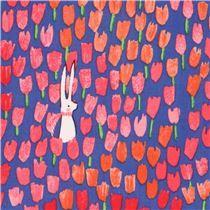 Tela azul oscuro flor tulipán floral de Michael Miller EE. UU.