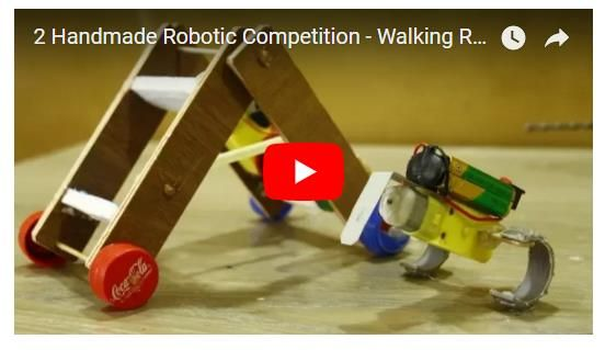 2 Handmade Robotic Competition - Walking Robot VS Robot Gusano