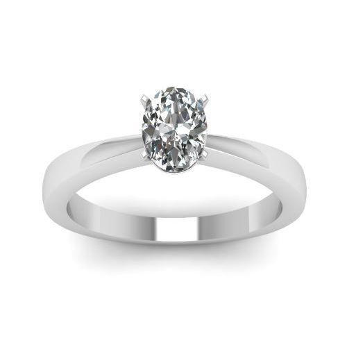 0.50 Karat Diamantring Oval 585 Weißgold D/SI1 GIA zertifiziert von www.juwelierhausabt.de  #diamantring #oval #gia #zertifiziert #juwelier #abt #dortmund #ovalschliff #weissgold