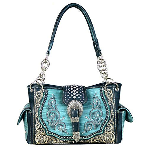 MW586G-8085 Montana West Buckle Collection Concealed Handgun Satchel (Turquoise)   #FreedomOfArt  Join us, SUBMIT your Arts and start your Arts Store   https://playthemove.com/SignUp