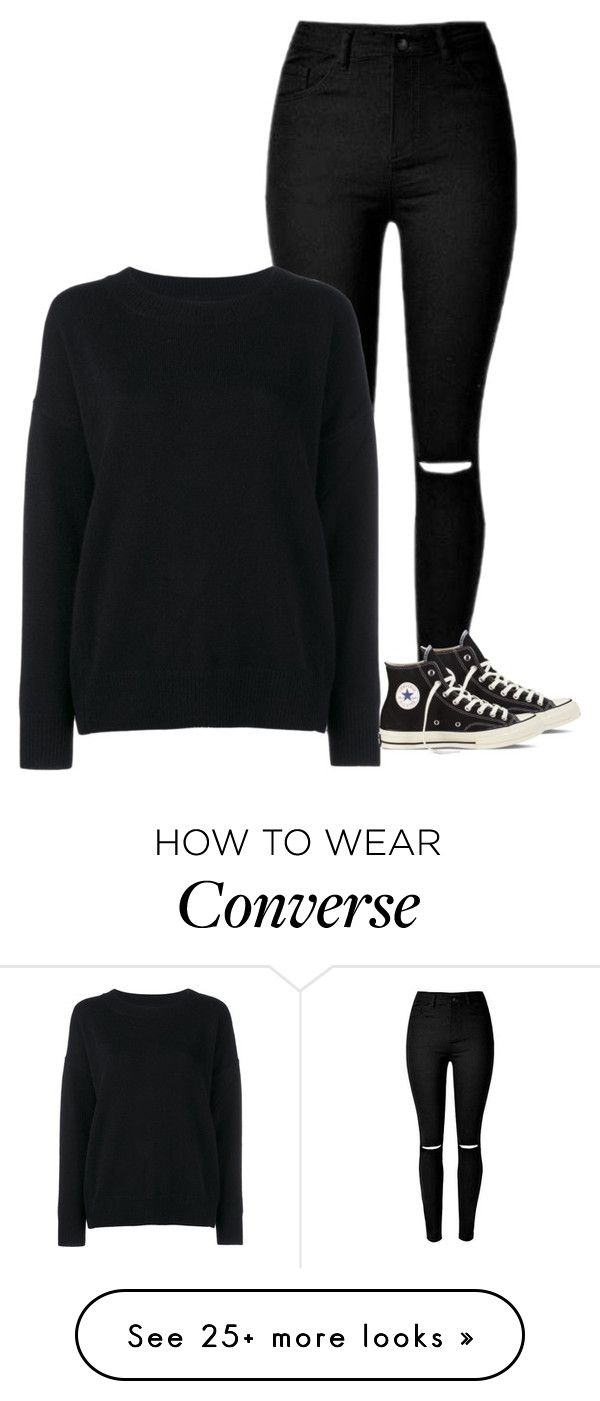 """""""OOTD"""" by spacecupcak3 on Polyvore featuring Frame Denim, Converse, women's clothing, women, female, woman, misses and juniors"""