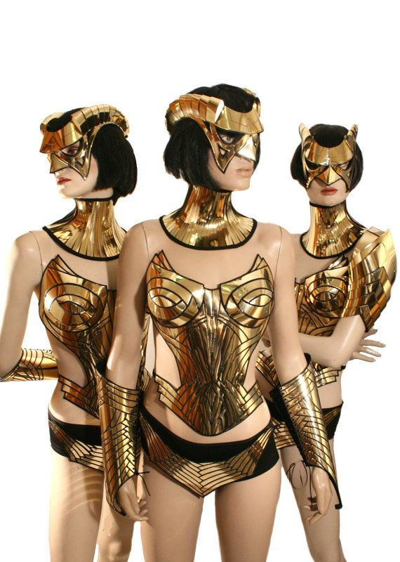 Gold overbust, corset, sci fi costume, harness,armour, cyber, goth, fetish, burning man, cyberpunk, futuristic clothing, death metal