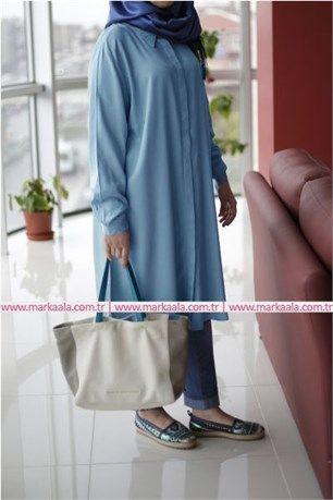 Büyük Beden Boyfriend Tunik - Petrol - Allday - 50621  #tesettür #tesettürgiyim #fashion #moda #giyim