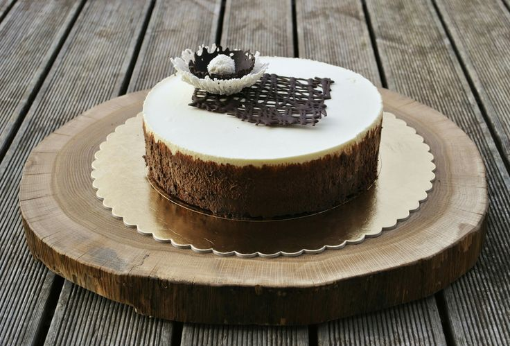 Triple mousse chocolate cake