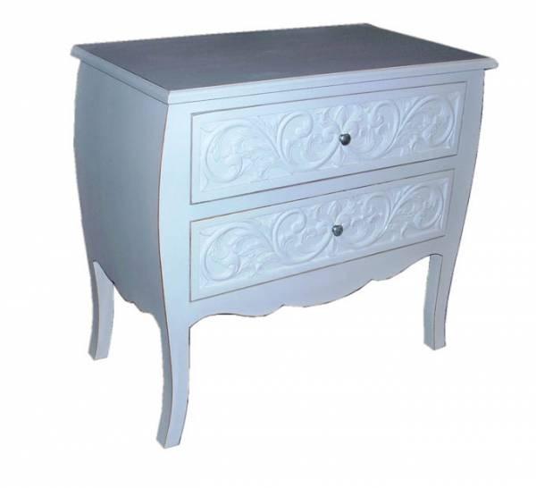Dresser 2 Drawer 75 x 80 x 45 White Wash F1949 R