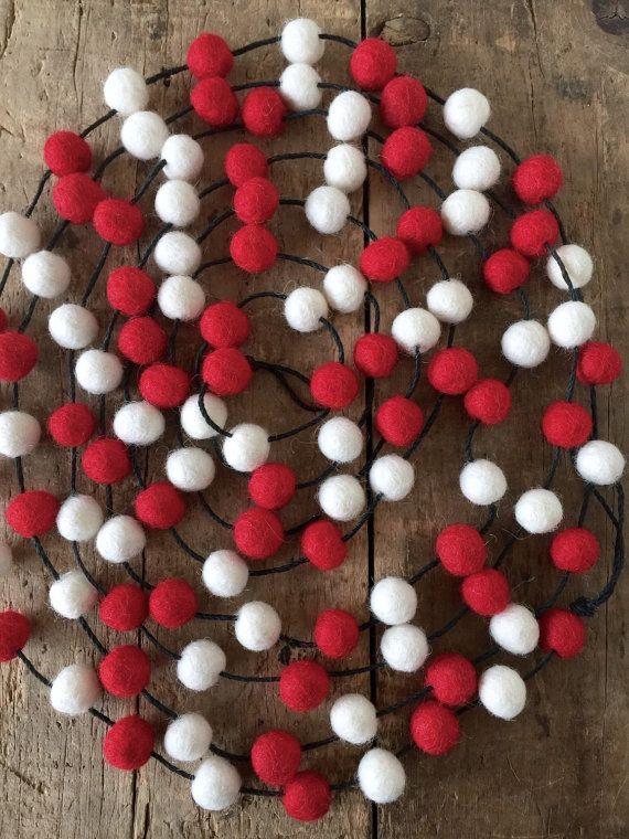 Fair Trade Wool Felt Ball Garland 2.8m 1cm 107 balls by CactusCo