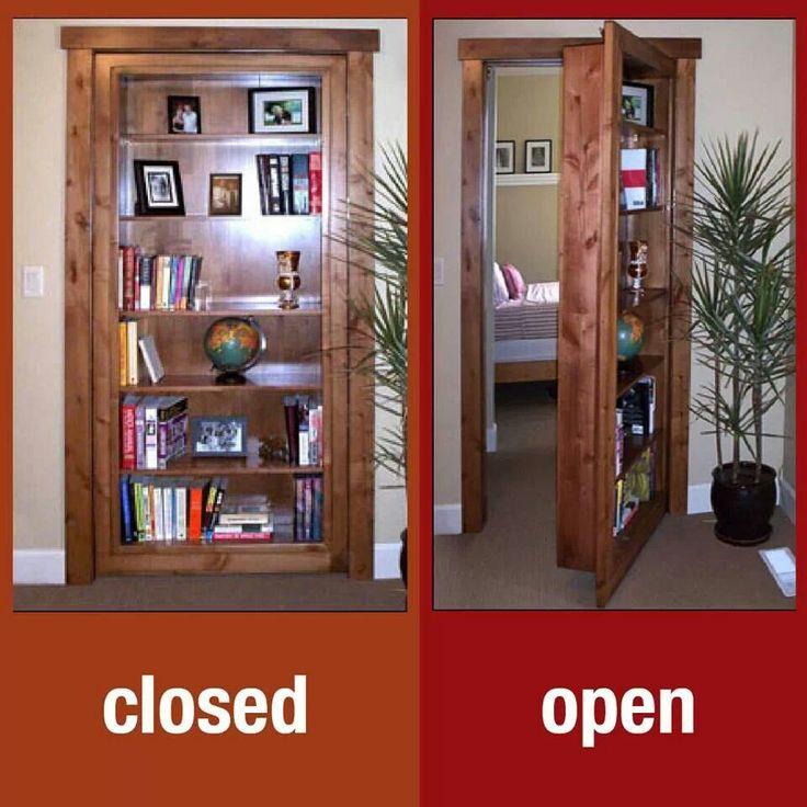 secret room bookcase door dream secret room pinterest. Black Bedroom Furniture Sets. Home Design Ideas