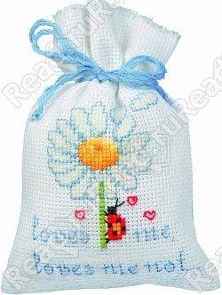 Мешочек для саше Vervaco Ромашка (набор для вышивания)