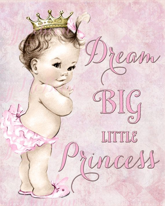 Princess Nursery Art Princess Nursery Decor pink and by jjMcBean, $12.00