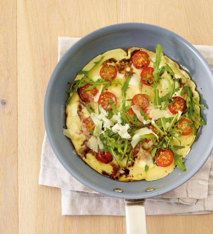 Rezept für Pfannkuchenpizza vegetarisch bei Essen und Trinken. Und weitere Rezepte in den Kategorien Eier, Gemüse, Getreide, Käseprodukte, Milch + Milchprodukte, Vorspeise, Hauptspeise, Pfannkuchen / Crêpe, Backen, Braten, Einfach, Schnell, Vegetarisch.