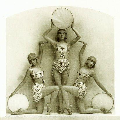 Folies Bergere, Paris, 1924. the costumes were designed by Erté. - Good shape!