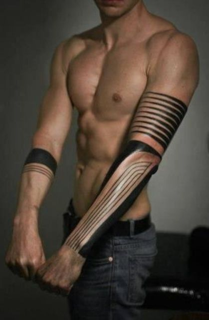 Best Black Ink Arm Tattoos For Men - Arm Tattoo Designs