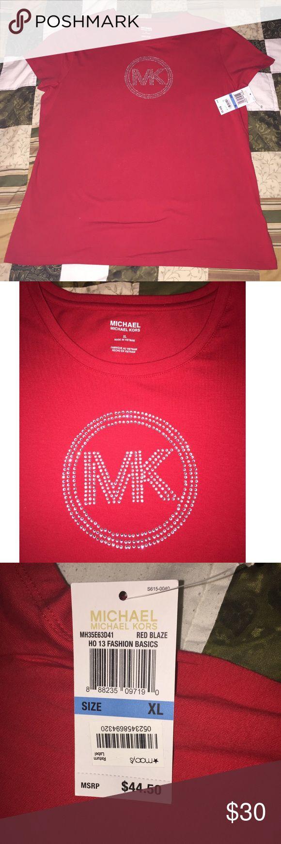 Michael Kors Red Short Sleeve T-Shirt NWT Michael Kors Red Short Sleeve T-Shirt NWT Michael Kors Tops Tees - Short Sleeve