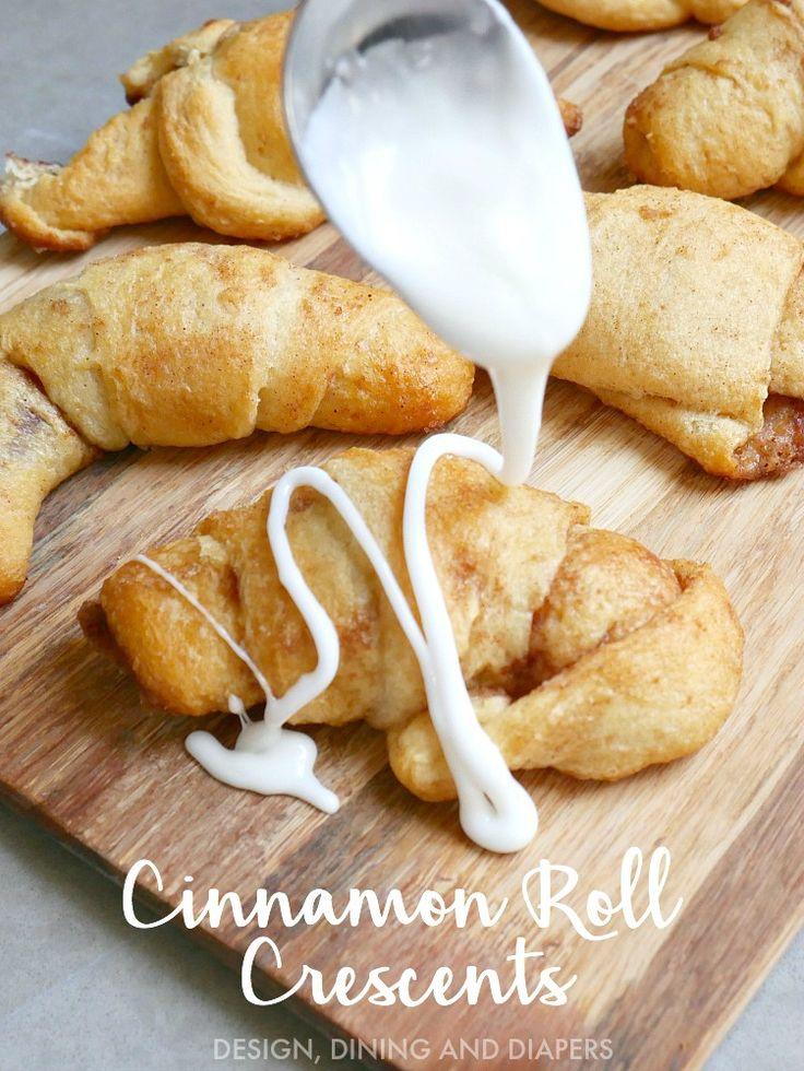 Cinnamon Roll Crescent Rolls