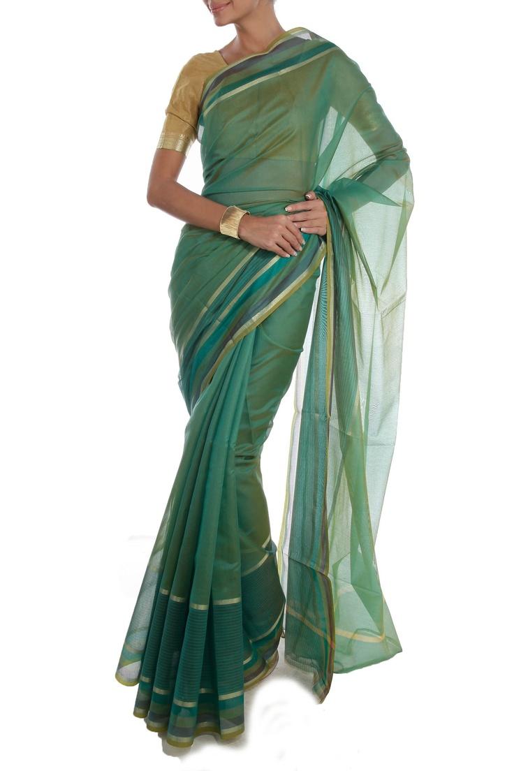 Green Saree by ASB