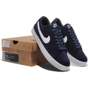 Men Nike Blazer Anti Fur Low Prm Dark Blue White Shoes cheap Men Nike Blazer Low If you want to look Men Nike Blazer Anti Fur Low Prm Dark Blue White
