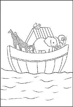 Arche Noah als Malvorlage | coloring 4 | Bibel malvorlagen ...