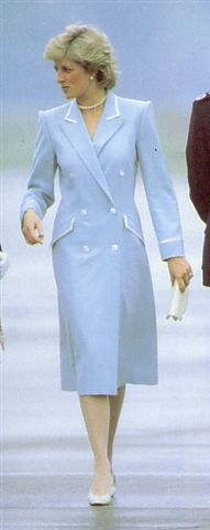 the late Princess Diana in blue