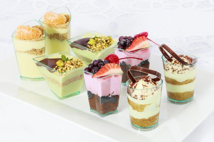 Mesa dulces, vasos postres