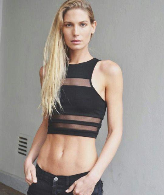 Sarah Brandner #model #german #beautiful #girl #woman #belly #perfect #body #goals #blondie #blonde #hair